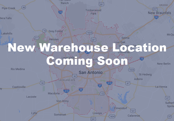 Warehouse location coming soon